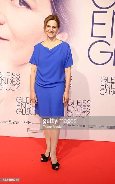 German actress Martina Gedeck attends the 'Gleissendes Glueck' Premiere on October 18 2016 in Hamburg Germany