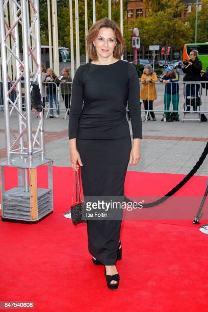 German actress Martina Gedeck attends the UFA 100th anniversary celebration at Palais am Funkturm on September 15 2017 in Berlin Germany