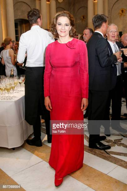 German actress Martina Gedeck during the ReOpening of the Staatsoper Unter den Linden on October 3 2017 in Berlin Germany