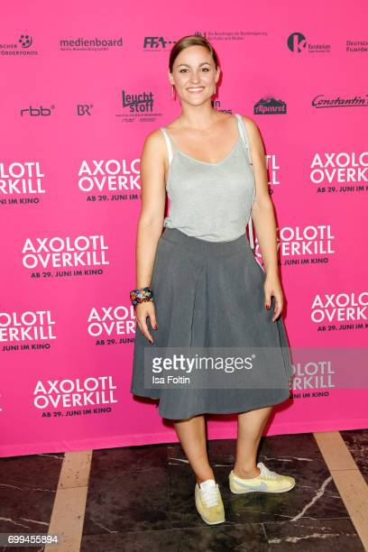 German actress Maxi Geithner attends the 'Axolotl Overkill' Berlin Premiere at Volksbuehne RosaLuxemburgPlatz on June 21 2017 in Berlin Germany