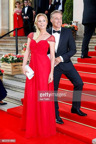 German actress Melanie Marschke and german actor Marco Girnth attend the Leipzig Opera Ball 2016 on September 10 2016 in Leipzig Germany