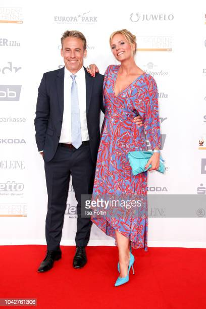 German actress Melanie Marschke and German actor Marco Girnth during the Goldene Henne on September 28 2018 in Leipzig Germany