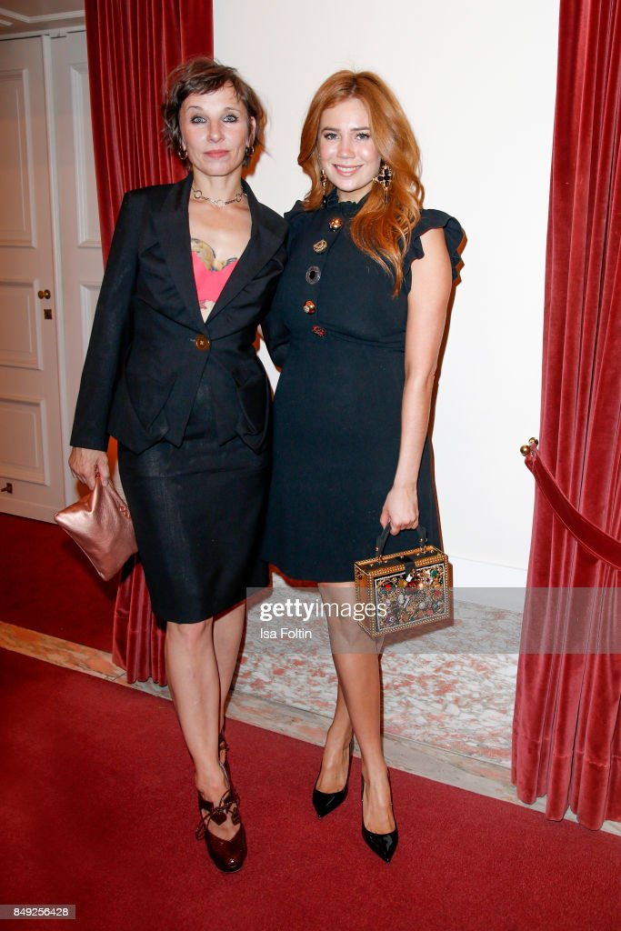 German actress Meret Becker and German presenter and actress Palina Rojinski attend the First Steps Awards 2017 at Stage Theater on September 18, 2017 in Berlin, Germany.