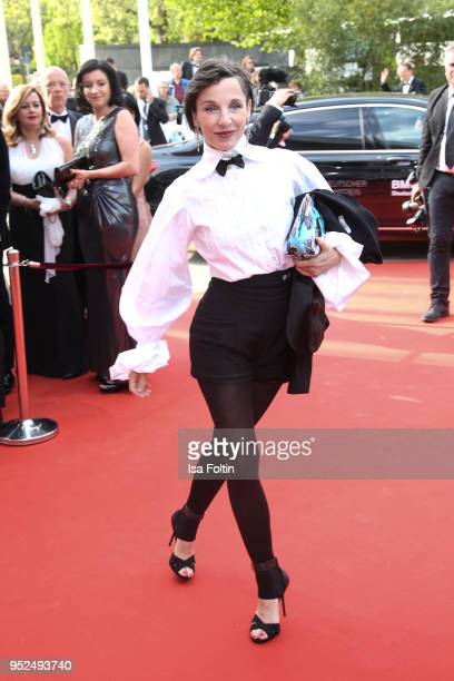 German actress Meret Becker attends the Lola German Film Award red carpet at Messe Berlin on April 27 2018 in Berlin Germany