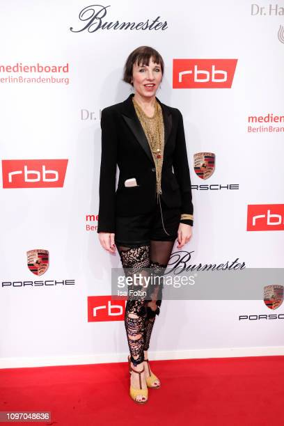 German actress Meret Becker attends the Medienboard BerlinBrandenburg Reception on the occasion of the 69th Berlinale International Film Festival at...