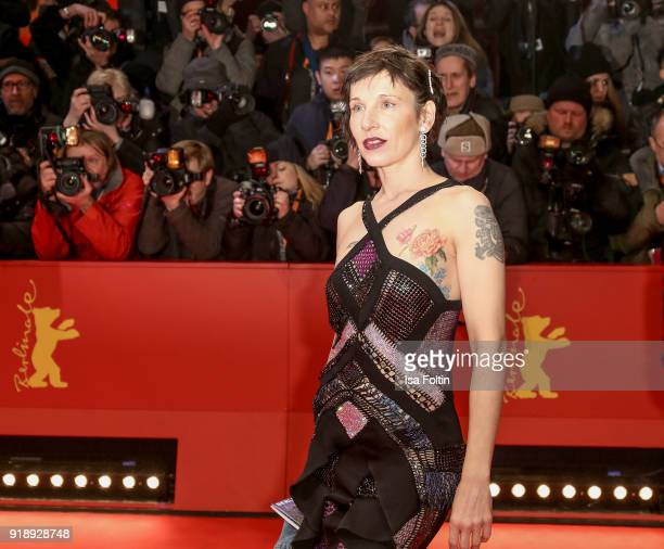 German actress Meret Becker attends the Opening Ceremony 'Isle of Dogs' premiere during the 68th Berlinale International Film Festival Berlin at...