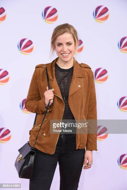German actress Merle Collet attends the photo call for the television film 'Nackt Das Netz vergisst nie' at Astor Film Lounge on March 27 2017 in...