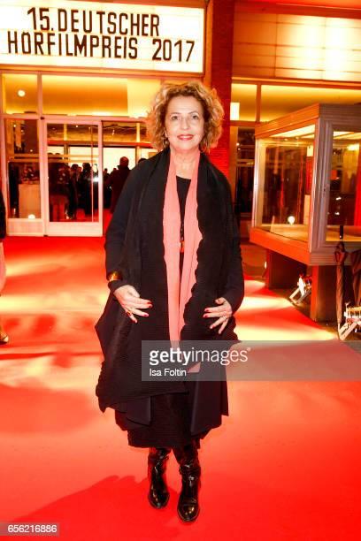 German actress Michaela May arrives at the Deutscher Hoerfilmpreis at Kino International on March 21, 2017 in Berlin, Germany.