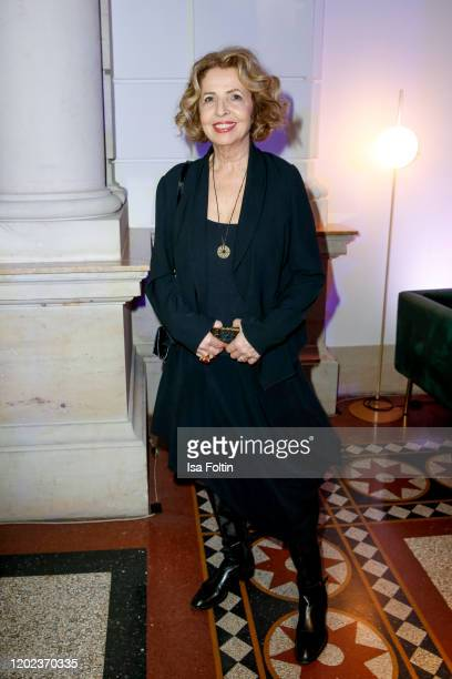 German actress Michaela May attends the Blue Hour Party hosted by ARD during the 70th Berlinale International Film Festival at Museum der...