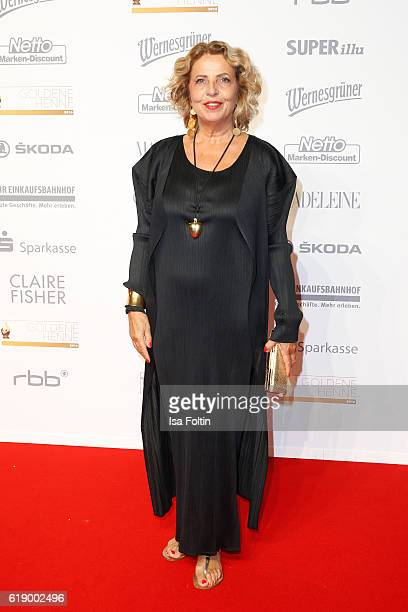 German actress Michaela May attends the Goldene Henne on October 28, 2016 in Leipzig, Germany.