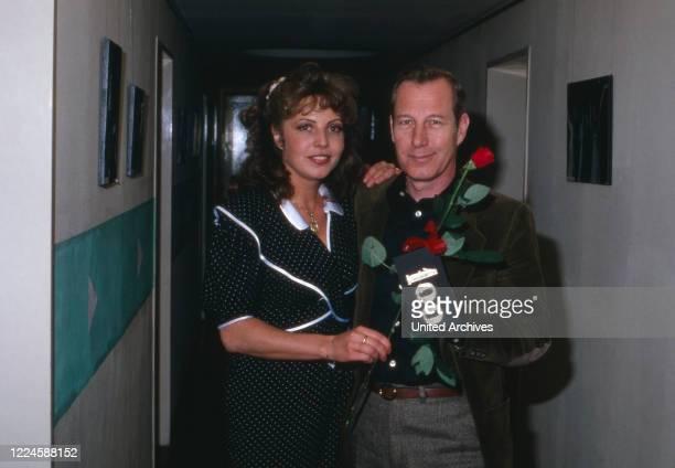 German actress Michaela May with colleague Hansjoerg Felmy, Germany, 1970s.