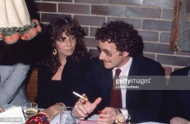German actress Michaela May with her husband Jack Schiffer, Germany, 1980s.