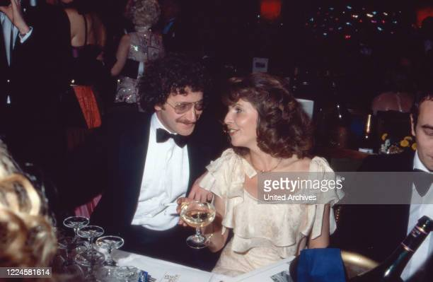 German actress Michaela May with husband lawyer Jack Schiffer, Germany, 1980s.