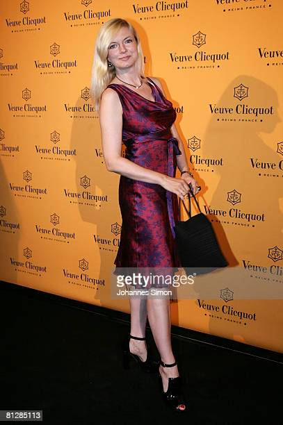 German actress Michaela Merten arrives for the Prix Veuve Clicquot for Entrepreneur of the Year 2008 awards ceremony at Munich Royal Residence May 29...