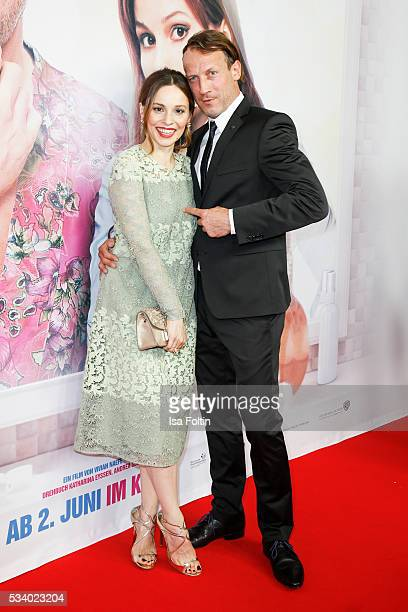 German actress Mina Tander and german actor Wotan Wilke Moehring attend the premiere of the film 'Seitenwechsel' at Zoo Palast on May 24 2016 in...