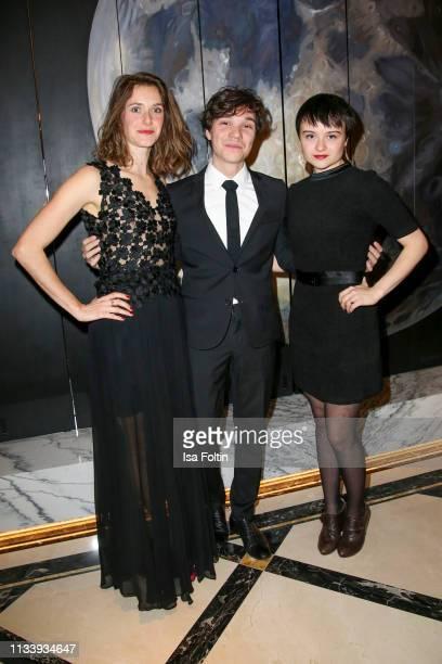 German actress Miriam Stein, German actor Sebastian Urzendowsky and German actress Lena Urzendowsky during the Ritz Carlton Berlin Re-Opening Party...