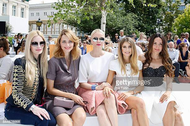 German actress Mirja du Mont german model Eva Padberg german model Franziska Knuppe german moderator Cathy Hummels and german actress Johanna Klum...