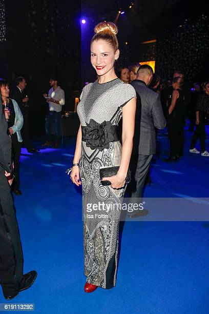 German actress Mirka Pigulla during the aftershow party at the Goldene Henne on October 28 2016 in Leipzig Germany