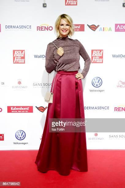 German actress Monica Ivancan attends the 'Goldene Bild der Frau' award at Hamburg Cruise Center on October 21 2017 in Hamburg Germany