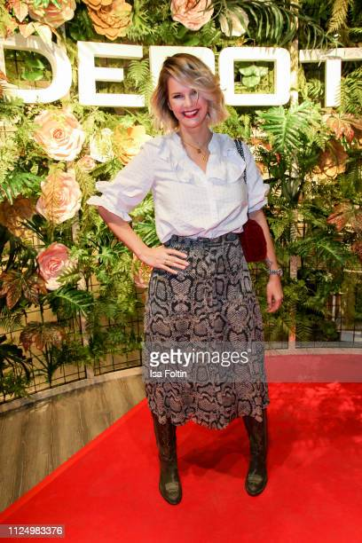 German actress Monica Ivancan attends the preopening of the new DEPOT flagship store on February 14 2019 in Munich Germany