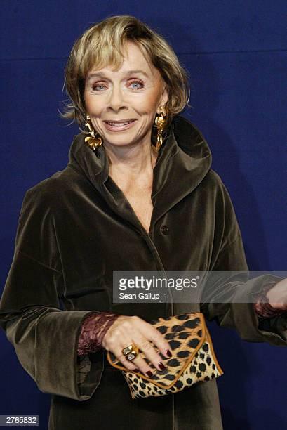 German actress Monika Peitsch attends The Bambi Awards November 27 2003 in Hamburg Germany