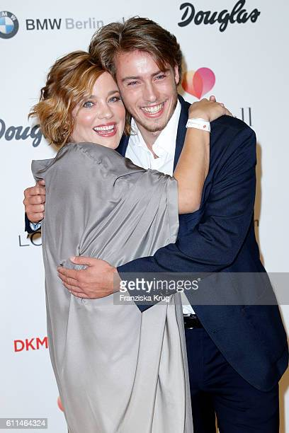 German actress Muriel Baumeister and her brother actor Lukas Amberger-Baumeister attend the Dreamball 2016 at Ritz Carlton on September 29, 2016 in...