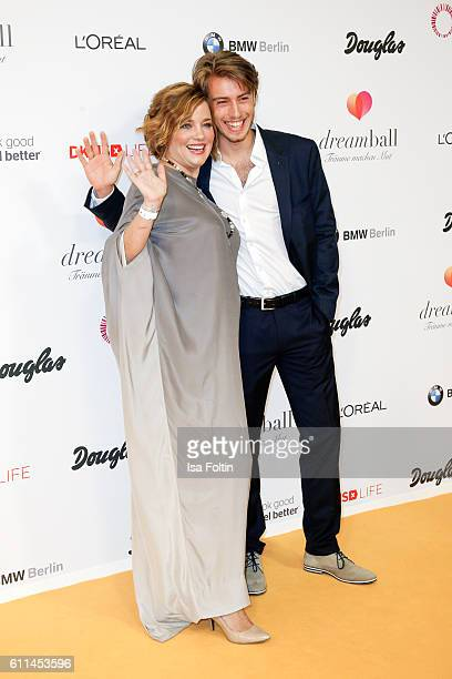 German actress Muriel Baumeister and her brother Lukas Amberger-Baumeister attend the Dreamball 2016 at Ritz Carlton on September 29, 2016 in Berlin,...