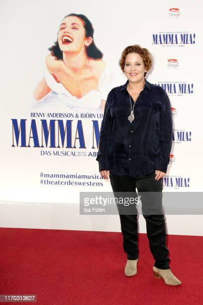 """German actress Muriel Baumeister at the premiere of """"Mamma Mia! - Das Musical"""" at Stage Theater des Westens on September 22, 2019 in Berlin, Germany."""