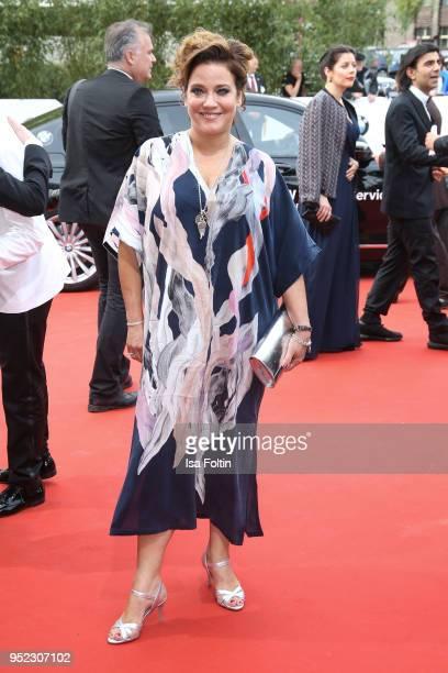 German actress Muriel Baumeister attends the Lola - German Film Award red carpet at Messe Berlin on April 27, 2018 in Berlin, Germany.