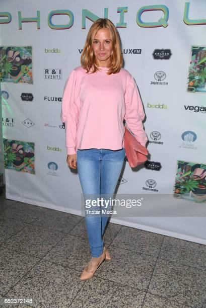 German actress Nadeshda Brennicke attends the album release 'Green Surpreme' by DJ Phonique on March 11, 2017 in Berlin, Germany.