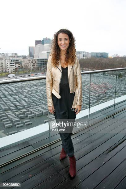 German actress Nadine Menz attends the Thomas Sabo Press Cocktail during the MercedesBenz Fashion Week Berlin A/W 2018 at China Club on January 17...