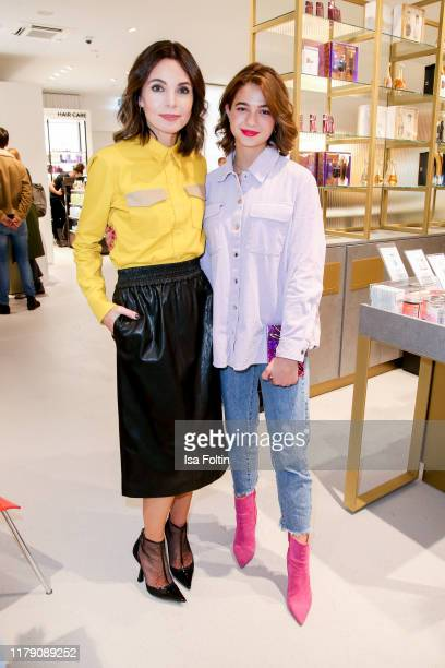 German actress Nadine Warmuth and German actress LisaMarie Koroll attend the Douglas FlagshipStore Opening on October 30 2019 in Berlin Germany