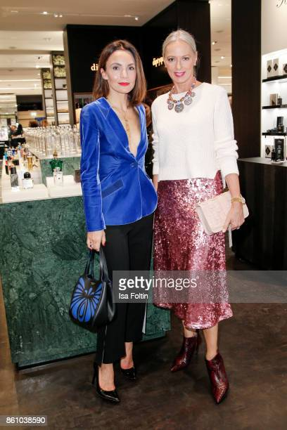 German actress Nadine Warmuth and model Petra van Bremen during the Alsterhaus Beauty Opening 'Die Neue Schönheit' on October 13, 2017 in Hamburg,...