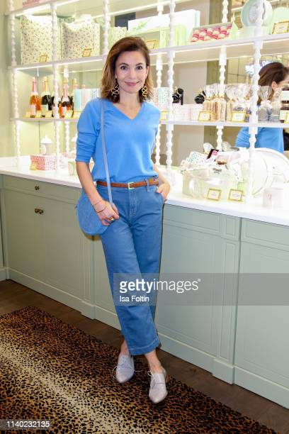 German actress Nadine Warmuth attends the Kickoff Europa #MEGA event hosted by Place to B at The Corner on April 29 2019 in Berlin Germany