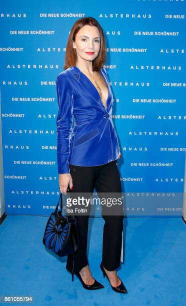 German actress Nadine Warmuth during the Alsterhaus Beauty Opening 'Die Neue Schönheit' on October 13 2017 in Hamburg Germany