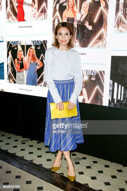 German actress Nadine Warmuth during the Douglas X Peter Lindbergh campaign launch at ewerk on May 30 2018 in Berlin Germany