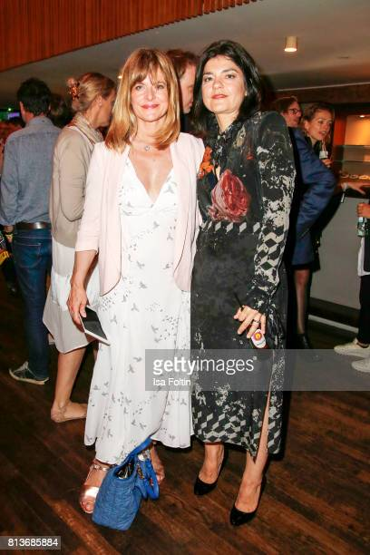 German actress Nastassja Kinski and German actress Jasmin Tabatabai during the summer party 2017 of the German Producers Alliance on July 12 2017 in...