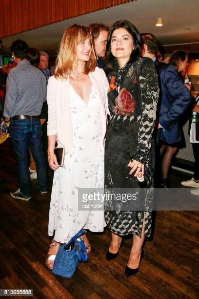 German actress Nastassja Kinski and German actress Jasmin Tabatabai during the summer party 2017 of the German Producers Alliance on July 12 2017 in...