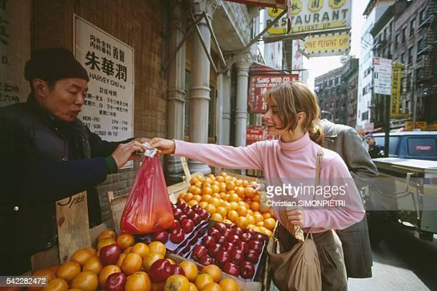 German actress Nastassja Kinski in the streets of New York