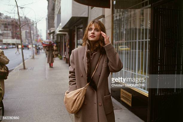 German Actress Nastassja Kinski In The Streets Of New York