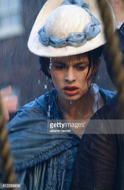 German actress Nastassja Kinski on the set of Revolution directed by Hugh Hudson