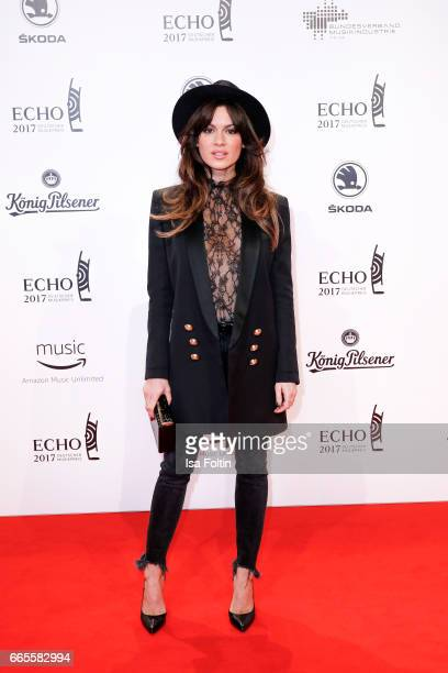 German actress Natalia Avelon during the Echo award red carpet on April 6 2017 in Berlin Germany