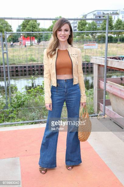 German actress Natalia Avelon during the nominees announcement of the German Play Award 2018 at Kornversuchsspeicher on June 15 2018 in Berlin...