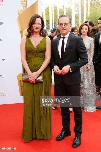 German actress Natalia Woerner and german politician Heiko Maas during the Lola German Film Award red carpet arrivals at Messe Berlin on April 28...