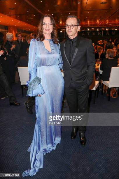 German actress Natalia Woerner and German politician Heiko Maas attend the opening party of the 68th Berlinale International Film Festival Berlin at...