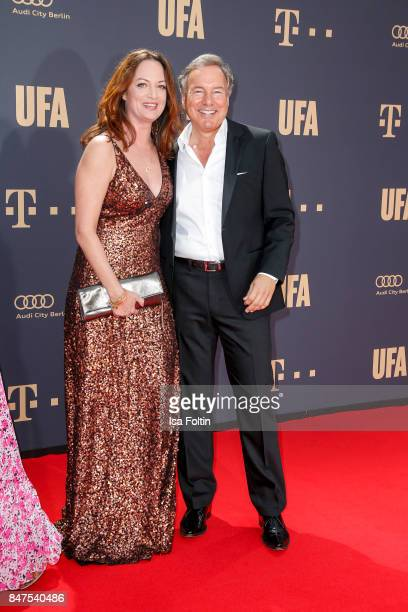 German actress Natalia Woerner and Nico Hofmann CEO UFA attend the UFA 100th anniversary celebration at Palais am Funkturm on September 15 2017 in...