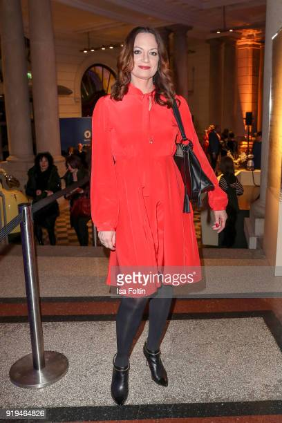 German actress Natalia Woerner attends the Blue Hour Reception hosted by ARD during the 68th Berlinale International Film Festival Berlin on February...