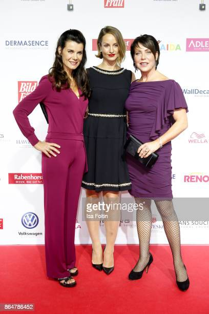 German actress Nicola Tegeler German actress Lara Joy Koerner and German actress Janin Hartwig attend the 'Goldene Bild der Frau' award at Hamburg...