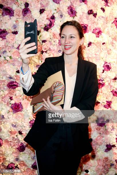 German actress Nike Fuhrmann attends the Blaue Blume Awards at Restaurant Grosz on February 6, 2019 in Berlin, Germany.