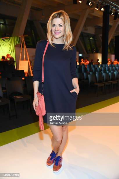 German actress Nina Bott attends the Tchibo 'Ready for the Green Carpet' Fashion Show on March 8 2017 in Hamburg Germany
